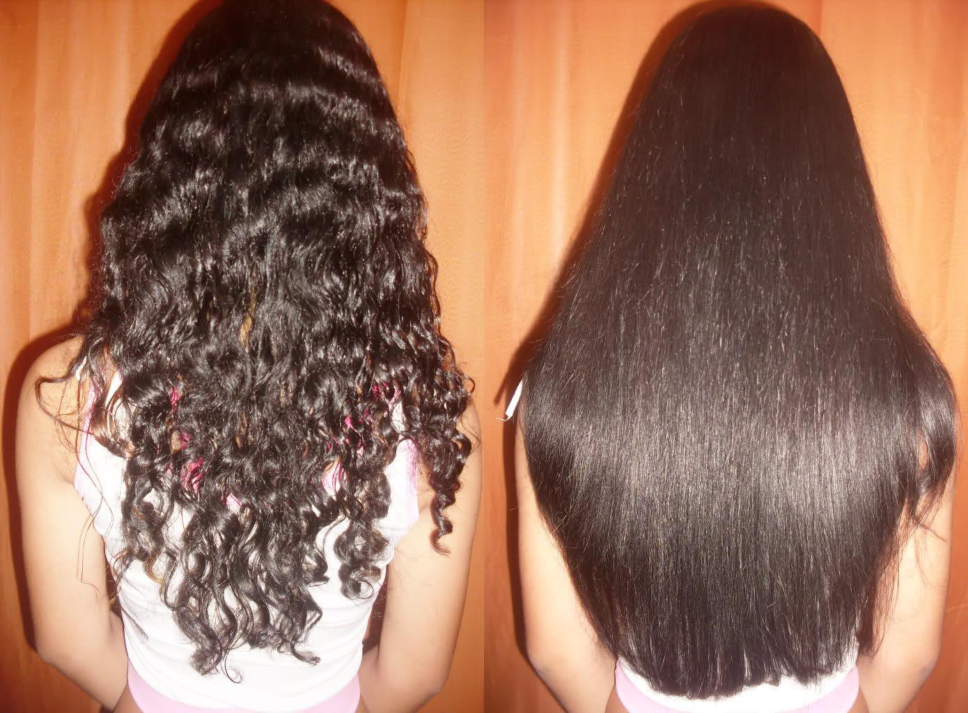 Выпрямление волос в домашних условиях кератин