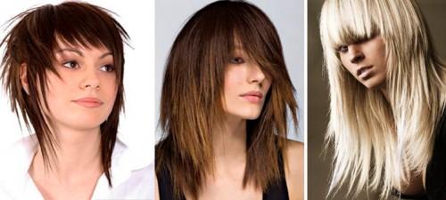 Рваная стрижка на длинных волосах