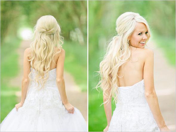 Свадебные прически Прямые распущенные волосы